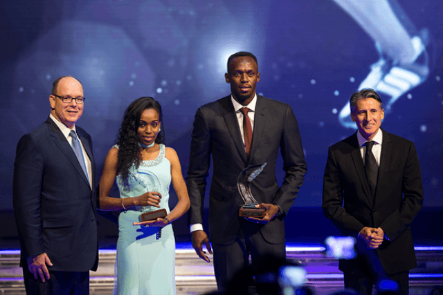 Usain Bolt and Almaz Ayana were named the male and female World Athletes of the Year at the IAAF Athletics Awards 2016. (Image Credit :Philippe Fitte / IAAF)