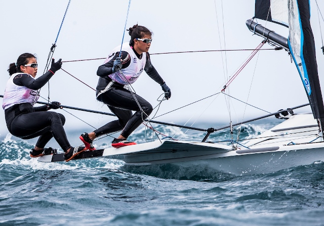 Singapore sailors Kimberly Lim and Cecilia Low in the 49erFX.jpg