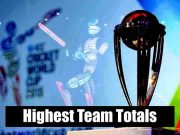 Highest Team Totals In Cricket World Cup