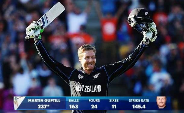 Martin Guptill- Top 5 Highest Individual Scores in Cricket World Cup