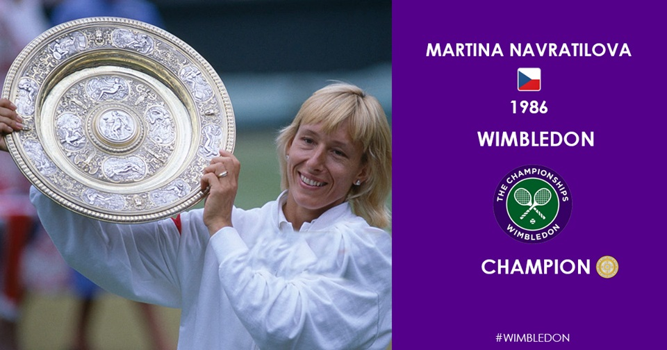 Martina Navratilova- 4 Female Tennis Players