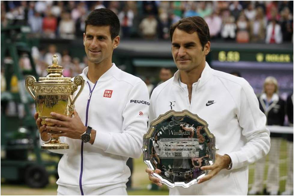 Federer v Dojokovic- Big 3 At Wimbledon