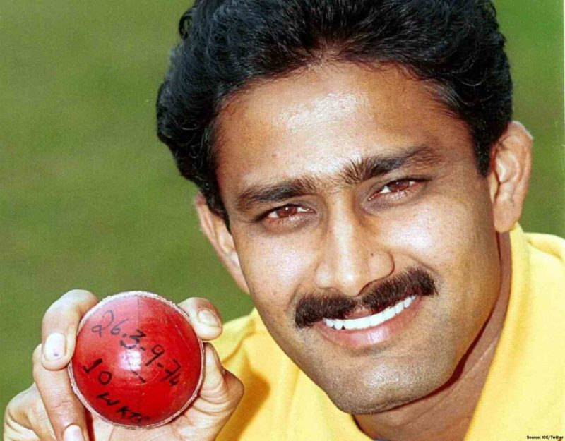 Kumble equals Jim Laker's 10 wickets feat